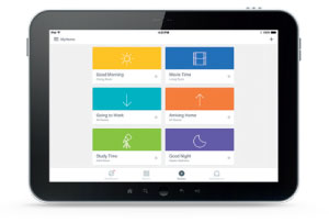 Ipad with Program your shades with the PowerView App**