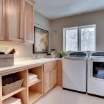 laundry room with cabinets, storage