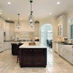 carrara marble countertop on island designed kitchen