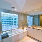 glass blocks in bathroom