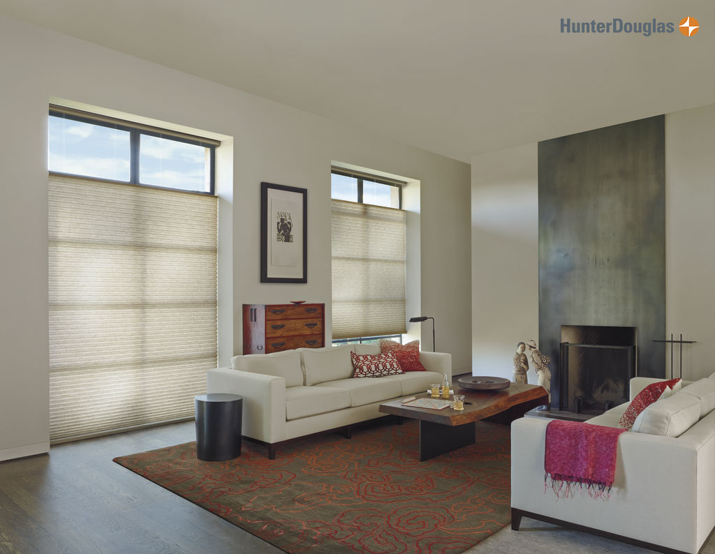 Hunter Douglas Alustra®, Duette® Honeycomb Shades PowerRise® Motorization