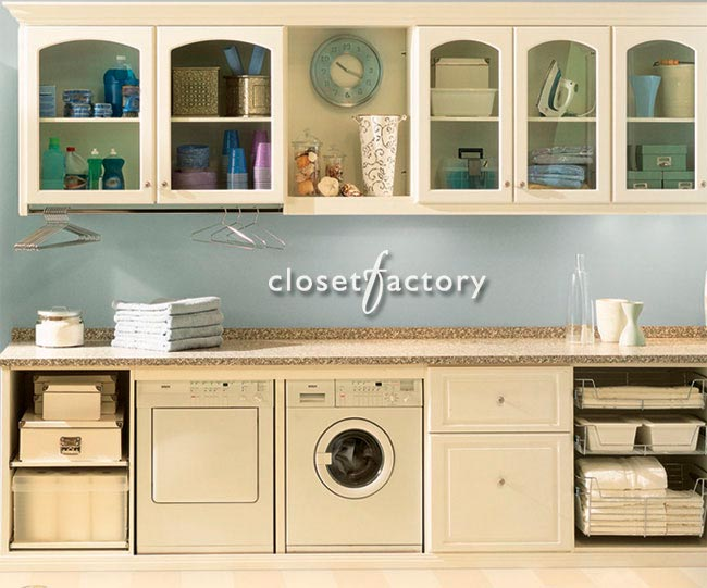 Closet Factory laundry room cabinets
