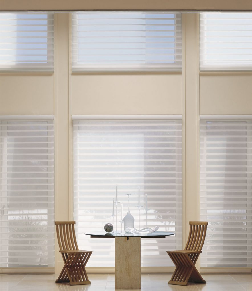 Hunter Douglas Silhouette® shadings in dining room
