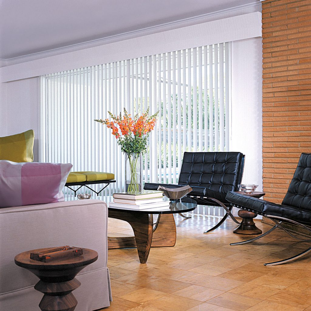 Hunter Douglas Vertical Solutions® Vertical Blinds in living room